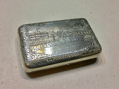 Russian Imperial 1888 Silver 84 Cigarette Case Engraved Hallmarked BA 179 Grams