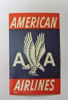 Cinderella POSTER STAMP LABEL AA EAGLE AMERICA AIRLINES SEE PICs