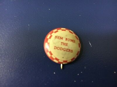 1940s Brooklyn Dodgers Dem Bums Pendant Antique Jewelry Mold Wax Momd Stamps