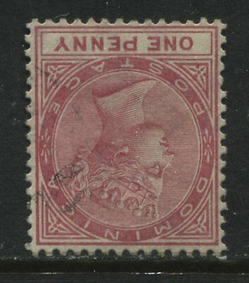 Dominica QV 1887 1d rose used Inverted Watermark