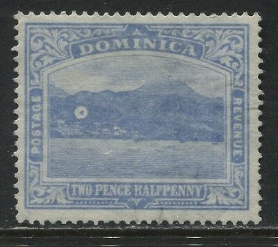 Dominica 1921 2 1/2d ultra unused no gum SPOT in the mountains!