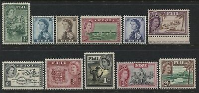 Fiji QEII 1st definitive set to 2/6d mint o.g.