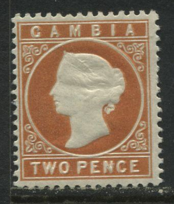Gambia QV 1886 2d orange unmounted mint NH