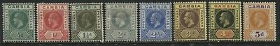 Gambia KGV 1921 1/2d to 5d mint o.g.