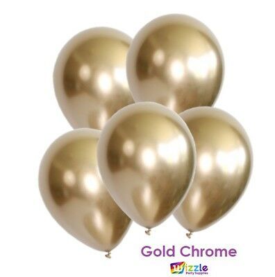 Deluxe Gold Chrome Metallic Balloons Premium Quality Wedding Party Baby Shower