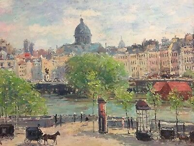 "Claude Monet Hand-Painted Vintage Reproduction ""Quai Du Louvre"" Paris 1866-1867"