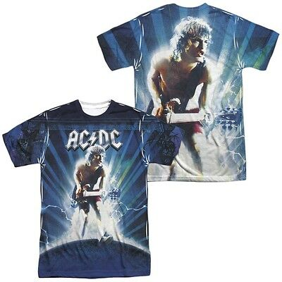 AC/DC Ballbreaker Lighting Front Back Allover Sublimation T-shirt S M L XL 2X 3X