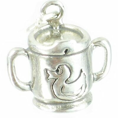 Baby Sipper Cup sterling silver charm .925 x 1 Babys Babies Cups charms SSLP3407