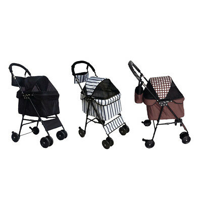 Dog/Cat/Pet Stroller Travel Carriage w/ Convertible Compartment Folding Carrier