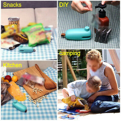 Portable Mini Heat Sealing Machine Sealer Food Packing Plastic Bag Seal Tool Hot