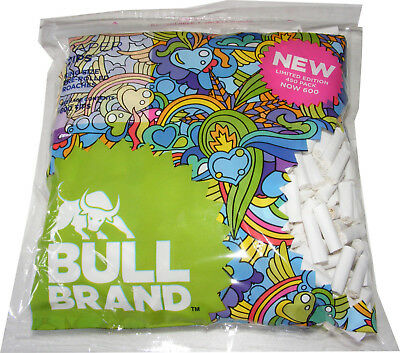 600 Ready Made Bull Brand Pre Rolled Filter Tips / Roach / Roaches - Mega Pack