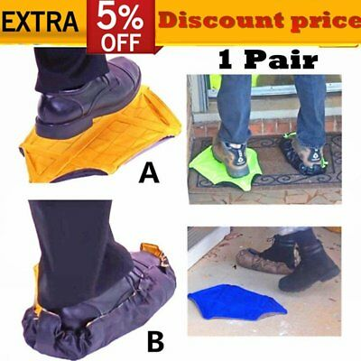 1 Pair Step In Sock Hands Free Shoe Covers Reusable Shoe Boot Cover Automatic CN