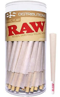 New Organic King Size RAW  Authentic Pre-Rolled Cones With Filter (100 Pack)