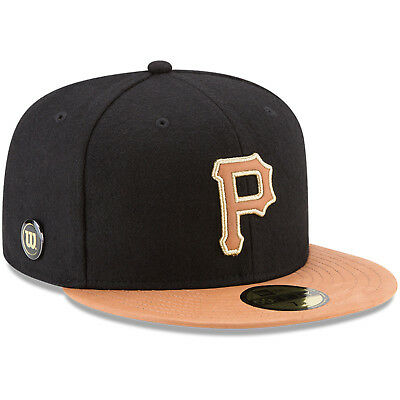 Pittsburgh Pirates Mlb Leather Bill Wilson Collaboration New Era 59Fifty Hat Nwt