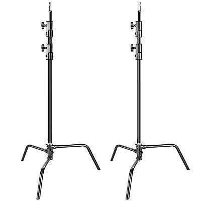 Neewer Photo 2-pack Heavy Duty Aluminum Alloy C-Stand Light Stand 5-10 feet