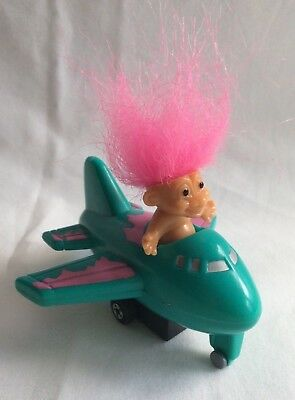 Russ Troll Airplane Pull Back and Go Toy / Aeroplane / Plane - Rare / HTF