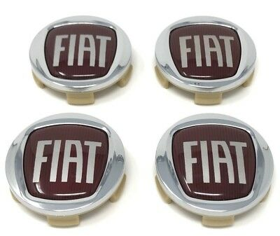 (Next Day Delivery) 4x Fiat 60mm Wheel Centre Caps Fiat Emblem