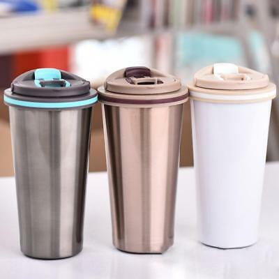 400ml Stainless Steel Travel Mug Coffee Tea insulated Thermal Cup Thermos Bottle