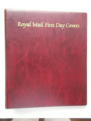 Royal Mail First Day Cover Album with 11 Sleeves & Padded Inside Slip - Burgundy