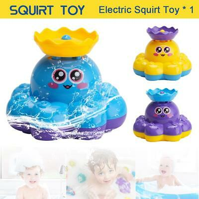 Bath Toy Spray Water Octopus Rotating With Fountain For Baby Toddler Infant Kid