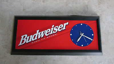 Budweiser King Of Beers 1998 Beer Clock Works!