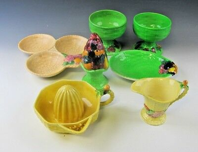 Lot of 7 Carltonware FRUIT BASKET Serving Pieces EXCELLENT