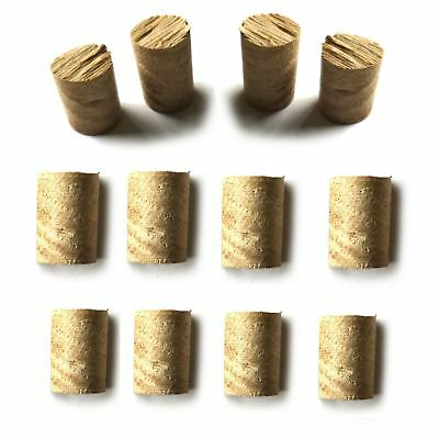 Oak Dowel Pellet Plug HandMade Wood 15mm approx. length, Ø10, 12mm Packs