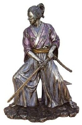 8.5 Inch Samurai in Combat Statue Japanese Japan Figurine  Decor Sculpture