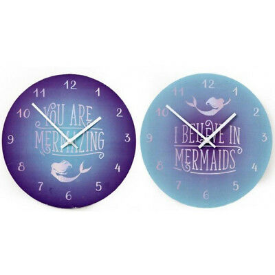 New Mermaid Style Clock Office Desk Home Decoration Retro Wall Gift Time