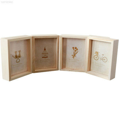 B0AE Wooden Decor Wall Picture Frame Durable 3 Size Photo Frame Home Ornament