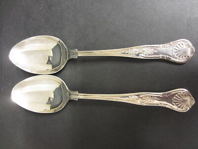 Vintage Pair Of Silver Plated Kings Pattern Serving Spoons - Epns A1