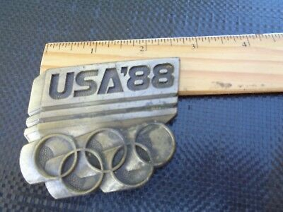 Usa 88 Olympic Belt Buckle, Vintage, Free Shipping
