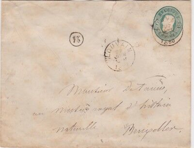 Belgium-1880 10 cents green postal stationery letter Louvain cover to Bruxelles,
