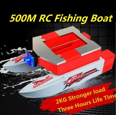 New 500M 2KG Load Wireless RC Fishing Bait Boat With 2.6L Capacity Bait Cabin