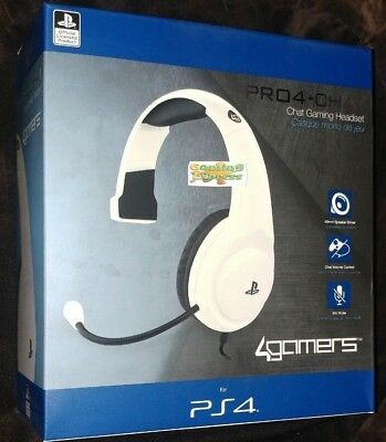 Official PRO4 MONO WHITE Chat Gaming Headset Playstation 4 PS4 NEW SEALED
