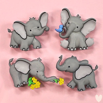 Dress it Up Buttons Tiny Trunks  - 8976 - Elephant Dumbo
