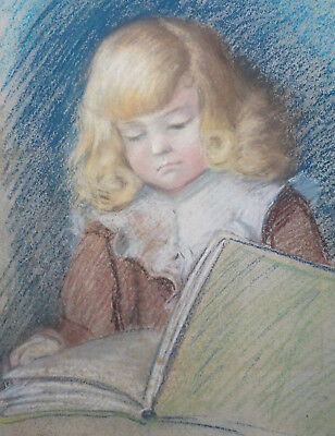 Nice Antique Pastel On Paper Drawing, Manner of Pierre Auguste Renoir