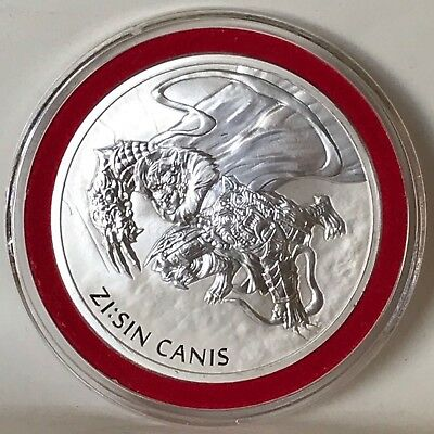 2018 South Korea Zi:Sin Series Canis 1 oz .999 Silver BU Warrior Coin Clay NEW
