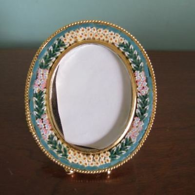"""2.5"""" VTG MINI ITALIAN MICRO MOSAIC PICTURE FRAME antique GREAT COND! Italy"""