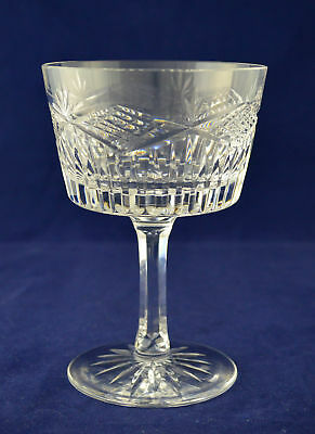 "Tyrone Crystal ""SLIEVE DONARD"" Champagne Saucer / Glass – 14.7cms (5-3/4″)"