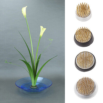 Round Ikebana Kenzan Flower Frog With Rubber Gasket Art Fixed Arranging Tools CS