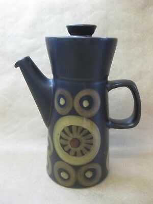 "Vintage Denby Pottery Arabesque Coffee Pot ~ 9"" ~ 1 1/2 Pints"