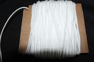 10 Metres White Nylon Braided Cord Thread Twine  2mm  buy 2 and get a 3rd free,