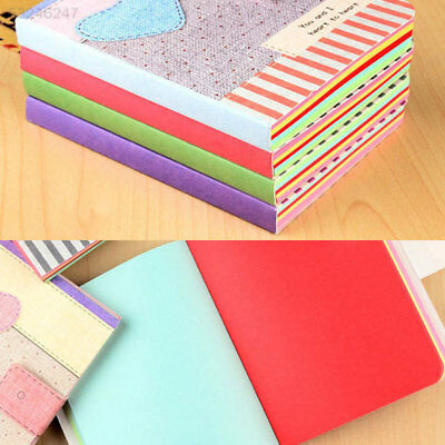 FFB4 7B30 Cute Colorful Hardback Notepad Notebook Writing Paper Diary Memo Gifts