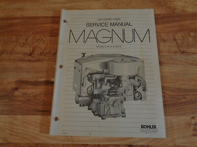 Kohler Engines Twin Cylinder Engine Service Manual MAGNUM MV16 MV18