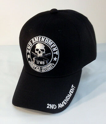 2nd Amendment Ball Cap USA Motorcycle Biker Hat Army Navy USAF USMC Rifle Second