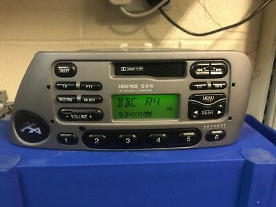 Ford Ka Rds   Car Radio Stereo Cassette Player Grey With Code