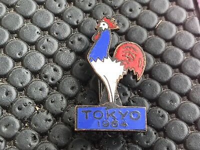 Rare Pin's Broche Noc French Tokyo 1964 Coq France Olympic Olympia Jo
