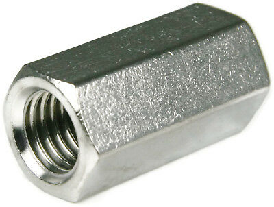 Stainless Steel Coupling Nuts Threaded Rod Extension Nut #4-40 thru 1/2-20 QTY25
