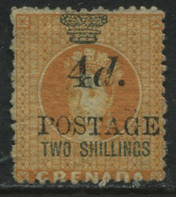 Grenada QV 1888 2/ overprinted 4d Postage unused no gum